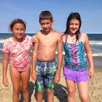 My Twins with friend at Point pleasant beach Nj