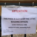 Pool closed by city