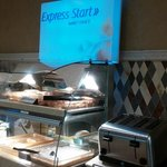 Express start - Smart choice breakfast. The biscuits and gravy and cinnamon rolls were great!