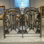 A lovely art-nouveau gate in one of the galleries