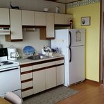Perfect, clean kitchen in unit 2, 1 bedroom ocean front.