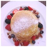 Lemon ricotta pancakes at Azul restaurant.