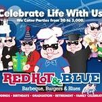 Celebrate Life With Us.  Red Hot & Blue