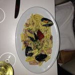 Gluten Free Penne with seafood