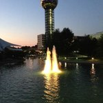 View of the sunsphere from the other end