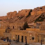View of the Jaisalmer fort from the rooftop restaurant