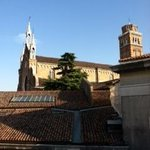 View from the South Studio of the Frari church--listen for the bells!