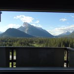 mt. rundle from our room