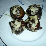 Zenab's figs dipped in chocolate and almonds - YUM!
