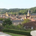 view of Sarlat from B&B grounds