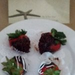 When we checked in we had a plate of chocolate covered strawberries waiting for us