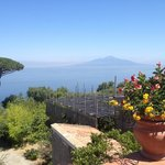 View from the terrace to Mount Vesuvius