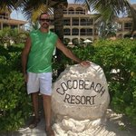 The rock when entering the resort