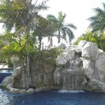 Little waterfall at the pool