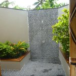 Outdoor shower in Garden Villa