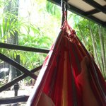 hammock time on patio