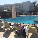 Chilling round the louis ledra beach pool