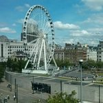 View from 10th floor overlooking Piccadilly Gardens