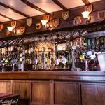 The bar at the Cromwell Arms