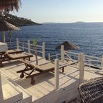 sun deck by the Med...