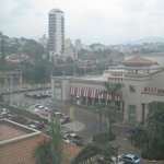 Looking out from the room at mall and Tegucigalpa