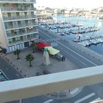 View of Cherbourg marina from my room