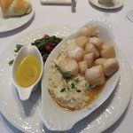 scallops right out of the Bay that day.  A diner's delight.