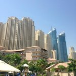 View of hotel showing the much higher non Ritz buildings behind
