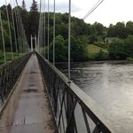 Footbridge across the Spey just behind B&B