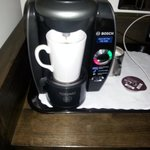 Coffee machine, a nice touch and slightly more luxurious feel than a kettle