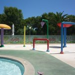 Kids splash area