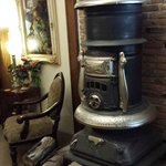 The old wood burning stove