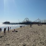 Beach and Santa Monica Pier