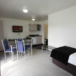 One bedroom unit dining/kitchenette area