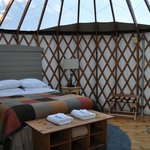 Inside of yurt 16