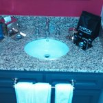 Sink and toiletries.