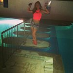 pool side at night its beautiful
