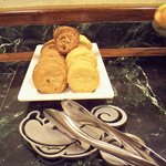Cookies are served daily at the concierge lounge