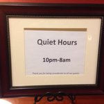 """Realize that they have a number of weddings at this hotel, but """"quiet hours?"""" Serious?  Come on"""