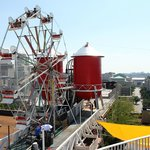 Ride a Ferris wheel at the top of the building