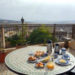 Breakfast on rooftop every morning