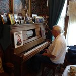 Glen at the player piano