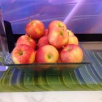 Free apples all day at the front desk