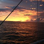 Key West at Sunset aboard the sailboat Floridays.