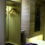 Wardrobe in bathroom