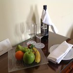 Fresh fruit each day in your room