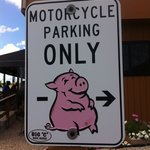 bike parking sign!