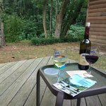 Back porch of Cabin 4 (get some wine from a local place!)