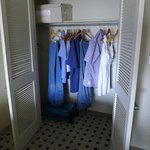The spacious walk-in closet