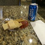 Chips and Salsa and a Beer for Evening Reception